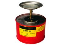 Justrite 1.0 litre Plunger Can with HDPE square body