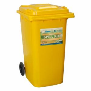 240 litre Chemical Spill Kit in 2 wheeled bin