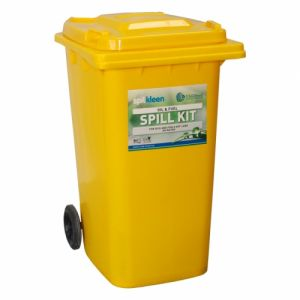 240 litre Oil and fuel Spill Kit in 2 wheeled bin