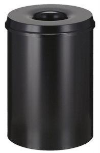 15L Fireproof Waste Paper Bin In Black