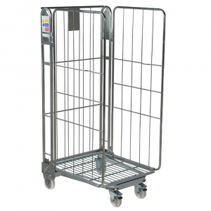3 sided nestable roll cage container 1690mm high