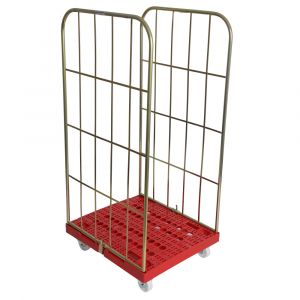 2 sided Demountable Plastic Based Roll cage Container 1630mm high