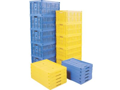 22 Litre Polypropylene Folding Box With Lid