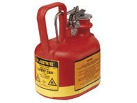 Justrite 3.7 litre non metallic Safety Can oval HDPE body