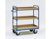 Fetra 3-shelf H/D Tray Trolley 1000x600mm L x W