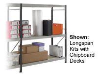 3 Shelf Longspan Extension Bays - 2100mm Wide, Steel Decks