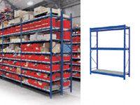 3 Shelf Longspan Starter Bays - 1200mm Wide, Steel Decks