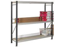 3 Shelf Longspan Starter Bays - 2100mm Wide, Chipboard Decks