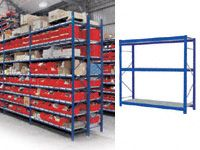 3 Shelf Longspan Starter Bays - 2400mm Wide, Steel Decks