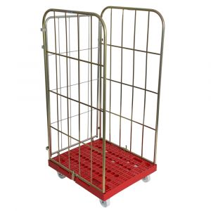 3 sided Demountable Plastic Based Roll cage Container 1630mm high