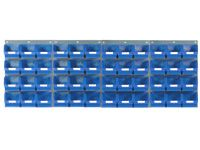 4 louvred panels c/w 48x TC3 blue bins
