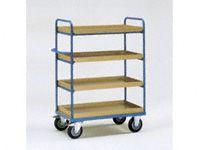 Fetra 4-shelf H/D Tray Trolley 1000x700x1500 LxWxH