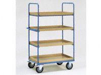 Fetra 4-shelf H/D Tray Trolley 1200x800x1800 LxWxH