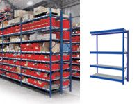 4 Shelf Longspan Extension Bays - 1200mm Wide, Steel Decks