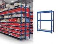 4 Shelf Longspan Starter Bays - 1200mm Wide, Steel Decks