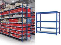 4 Shelf Longspan Starter Bays - 2400mm Wide, Steel Decks
