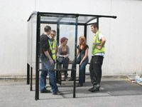 4 Side Traditional Smoking Shelters from 2.1m Sq to 2.1x5.2m