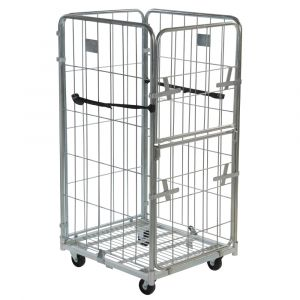4 sided demountable roll cage container 1520mm high