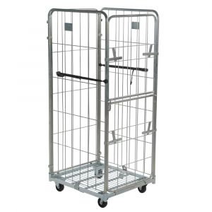 4 sided demountable roll cage container 1800mm high