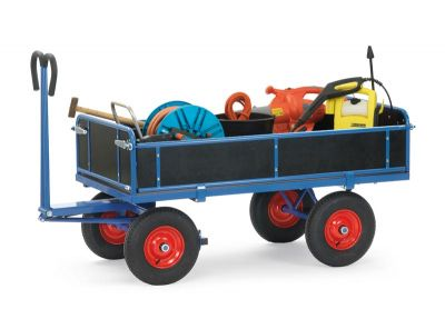 Fetra 4-sided hand Truck 1600x900, pneumatic tyres