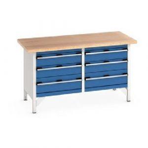 Bott Cubio Storage Bench with 6 Drawers and Multiplex Worktop