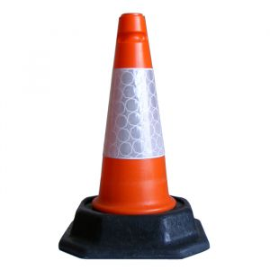 460mm Lightweight Road cone, red and white