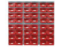 6 louvred panels c/w 48x TC4 red bins