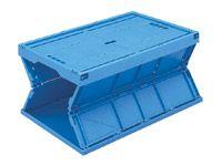 60 Litre Polypropylene Folding Box, Blue - MOQ 5
