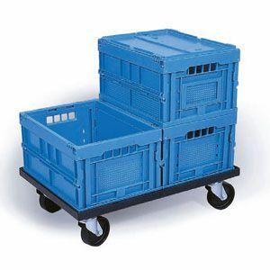 60 Litre Polypropylene Folding Box, Yellow - MOQ 5
