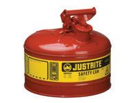 Justrite 9.5ltr cap. Metal Safety Can with swinging handles