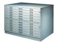 A0 10-drawer Steel Planchest