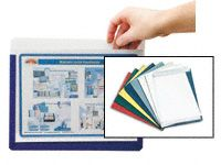 A4 landscape document pockets, magnetic backed
