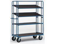 Fetra Adjustable Shelf Trolley 1830x620, 4 x ply shelves