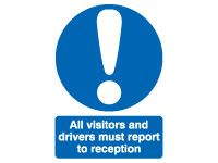 All Visitors And Drivers Safety Signs - 400 x 300mm