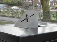 Ashtray accessory for litter bins