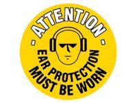 Attn ear protection must be worn - floor marker