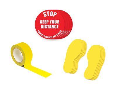 Floor Signs Social distance Kit
