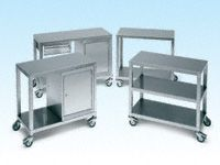 Braked Castors per pair stainless steel - Optional