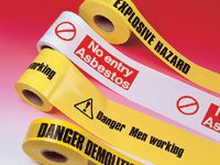 Building Unsafe Printed Warning tape