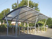 Cambridge Cycle Shelters - Polycarbonate Roof