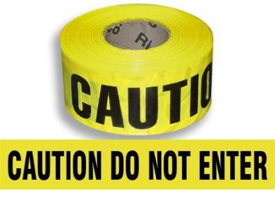 Caution Do Not Enter Printed Warning tape
