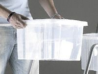 Clear Plastic Topboxes With Lids (Pack of 10)