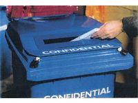 Confidential Paper Bank Lid - Optional