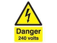 Danger 240 Volts Safety Signs