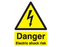 Danger Electric Shock Risk Safety Signs