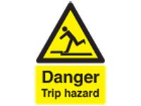 Danger Trip Hazard Safety Signs