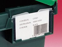 Distribution Container Label Holder