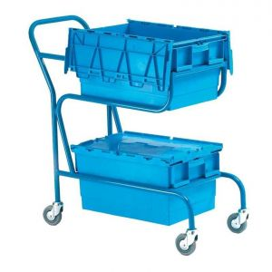Double Container Trolley, with 2 Blue containers