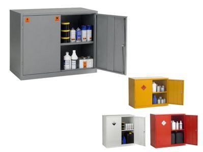 Double Door 1 Shelf COSHH Hazardous Storage Cabinets