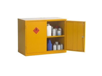 Double Door 1 Shelf Flammable Liquid Storage Cabinet